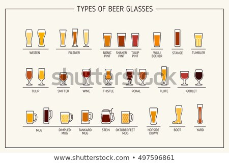 Beer glasses and mugs Stock photo © czaroot