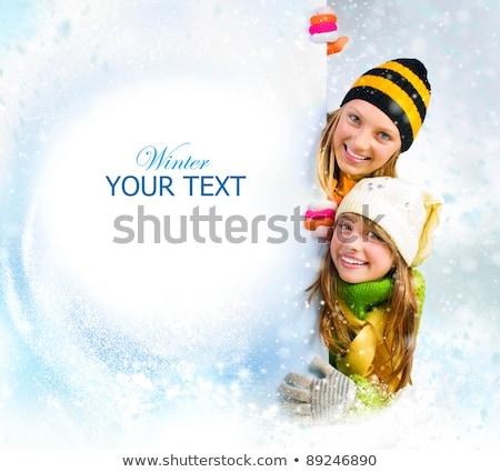 少女 · ボード · 雪 · セクシー - ストックフォト © dolgachov
