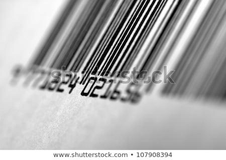 Vonalkód közelkép makró lencse minta hátterek Stock fotó © REDPIXEL