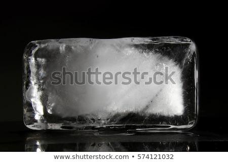 hielo · bloques · aire · libre · vista · múltiple · limpio - foto stock © zastavkin