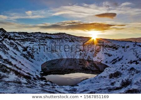 Vulcanica cratere lago meridionale Islanda acqua Foto d'archivio © broker