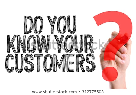 Foto d'archivio: Target Your Customers Hand