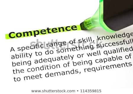 competence highlighted in green stock photo © ivelin