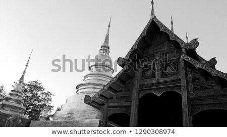 feketefehér · Buddha · thai · művészet · északi · Thaiföld - stock fotó © nuttakit