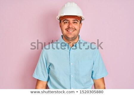Orgulhoso arquiteto construtor negócio mãos feliz Foto stock © photography33