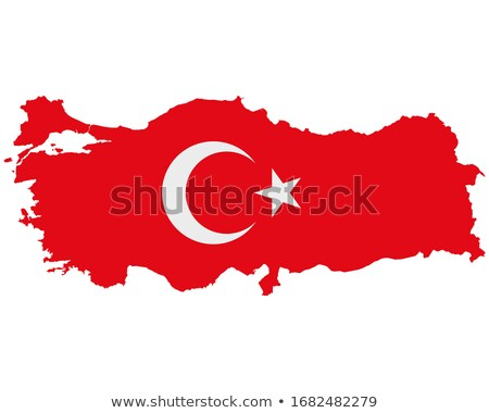 Turkey map with flag Stock photo © experimental