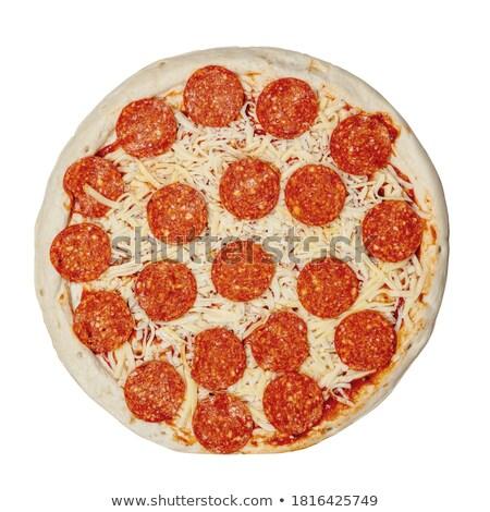 Pizza patlıcan kabak plaka sebze taze Stok fotoğraf © vlad_podkhlebnik