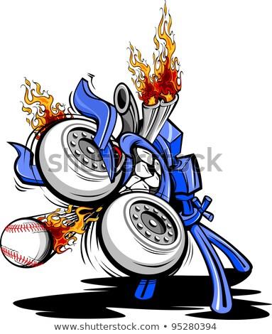 Сток-фото: монстр · бейсбольной · машина · Cartoon · вектора · огромный