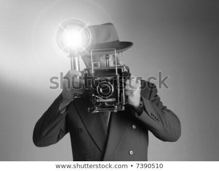 Retro prensa fotógrafo foto 1940 estilo Foto stock © sumners