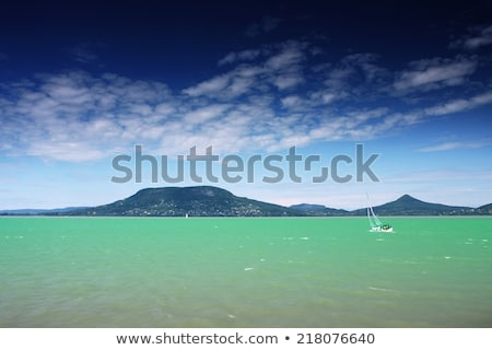 Beautiful Hill - Badacsony - at lake Balaton Stock photo © samsem