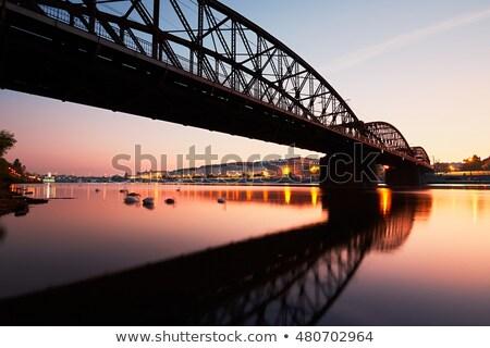 railway bridge in prague stock photo © ondrej83