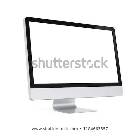 computer · display · geïsoleerd · witte · scherm · ingesteld - stockfoto © tashatuvango