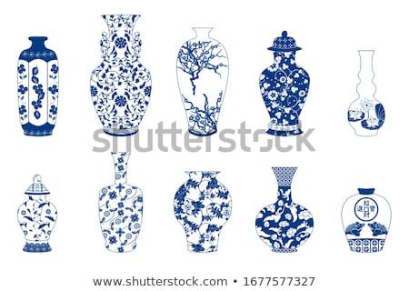 Chinois vase Retour sol design beauté Photo stock © papa1266