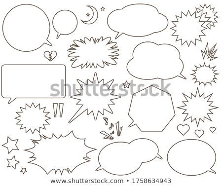 Balão de fala natal ícones gradiente arte Foto stock © adamson