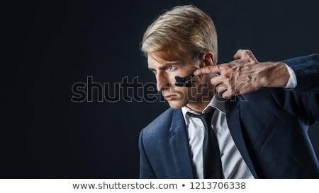 vadászrepülő · üzletember · koncentráció · pillanat · üzlet · háttér - stock fotó © pedromonteiro