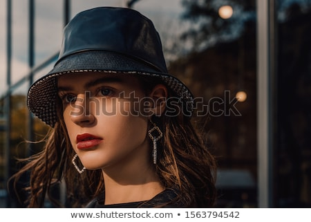 high hat girl Stock photo © carlodapino