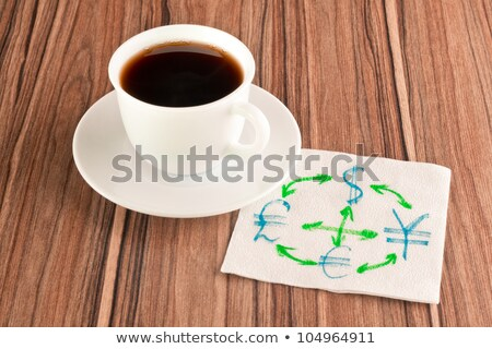 Currency conversion on a napkin stock photo © a2bb5s
