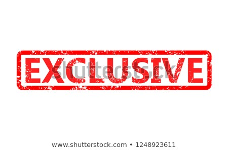 Exclusive rubber stamp stock photo © IMaster