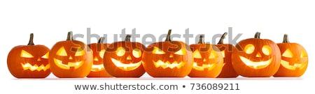 Stock fotó: Halloween · tök · keret · grunge · étel · terv · levél