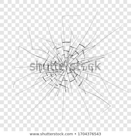 Vidro quebrado janela abstrato arte quadro preto Foto stock © lirch