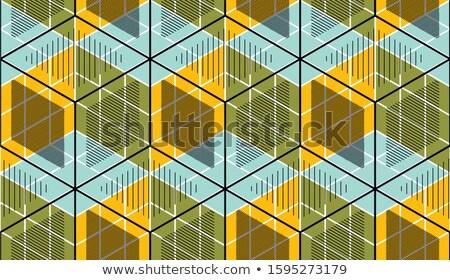 Stockfoto: 3D · abstract · gestreept · tegel · achtergrond · groene