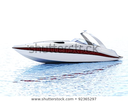 Luxe snelheid boot geïsoleerd schip zeilen Stockfoto © goce