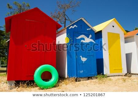 Plaj ada Fransa renkli yaz kum Stok fotoğraf © ivonnewierink