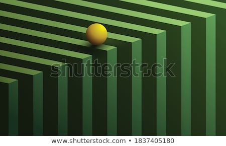 Spheres Over 3D Green Surface Stock photo © ankarb