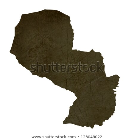 Dark silhouetted map of Paraguay stock photo © speedfighter