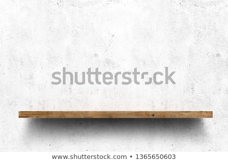Houten boekenplank vintage boekenplank ontwerp Stockfoto © stevanovicigor