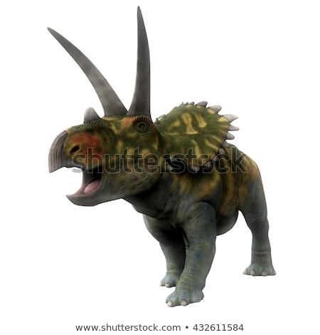 dinoszaurusz · drót · keret - stock fotó © aliencat