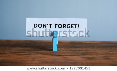 Escritório nota branco símbolo algo nunca Foto stock © Lightsource