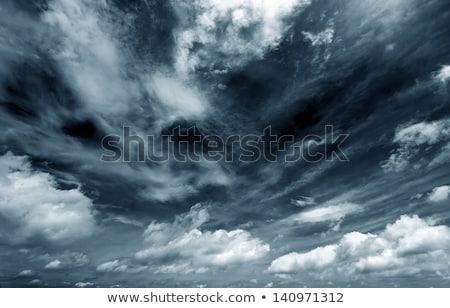 puesta · de · sol · nubes · de · tormenta · Canadá · rayo · cielo · nubes - foto stock © elenaphoto
