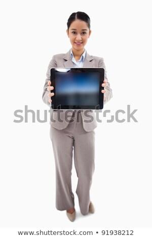 mulher · branco · feliz · terno - foto stock © wavebreak_media