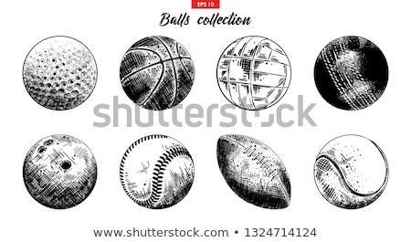 cartoon · hand · baseball · tekening · kunst · spelen - stockfoto © indiwarm