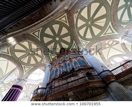 Mexikóváros katedrális belső kilátás épület templom Stock fotó © jkraft5