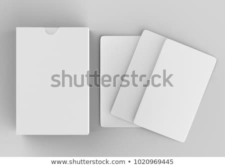 Gry karty odizolowany biały zawodowych skaner Zdjęcia stock © eldadcarin