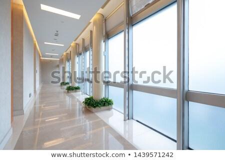 Korytarz korytarzu nowoczesne pusty hotel domu Zdjęcia stock © ifeelstock
