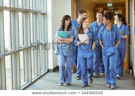 медик · лаборатория · молодые · женщины · рабочих - Сток-фото © szefei