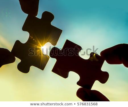Sunshine Puzzle Pieces Stock photo © cteconsulting