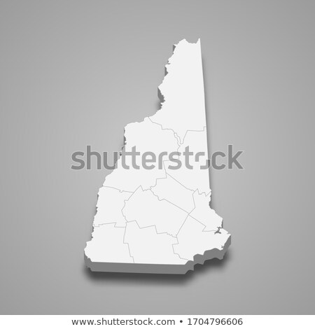 New Hampshire 3D establecer iconos mapa Foto stock © cteconsulting
