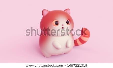 3D créature personnage orange rose blanche Photo stock © Melvin07