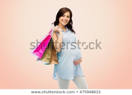 Gelukkig zwangere vrouw winkelen jonge vrouwelijke Stockfoto © dacasdo