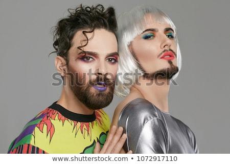 Back touching of attractive couple Stock photo © konradbak