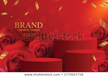 赤 表彰台 美しい プラスチック 実例 ダンス ストックフォト © obradart