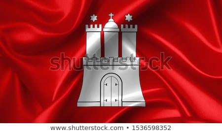 Bandiera amburgo mappa rosso carta paese Foto d'archivio © Ustofre9