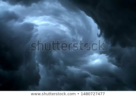 Sombre nuageux orageux ciel nuages vagues Photo stock © Witthaya
