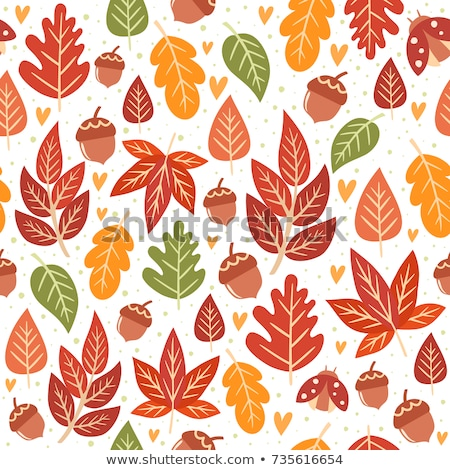 Fall leafs seamless background. stock photo © Leonardi
