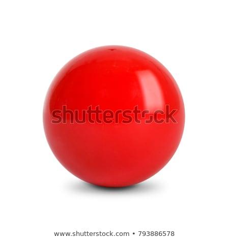 piros · snooker · golyók · izolált · fehér · asztal - stock fotó © shutswis