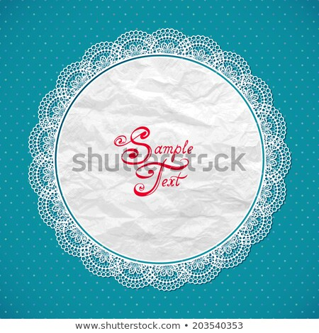 vector scrapbook design elements, crumpled paper napkins Stock photo © alexmakarova